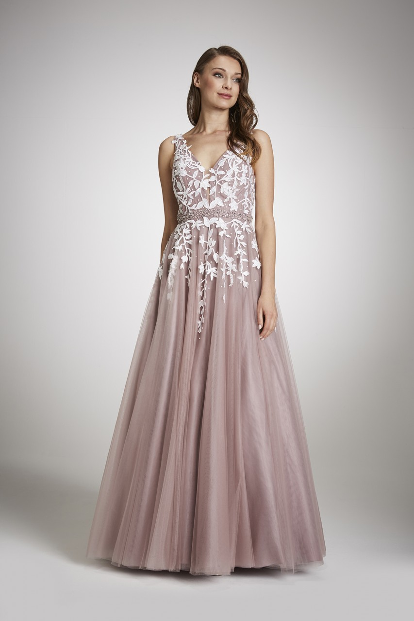 TWO-TONE TULLE GOWN