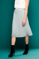 PLEATED MINT MIDI SKIRT