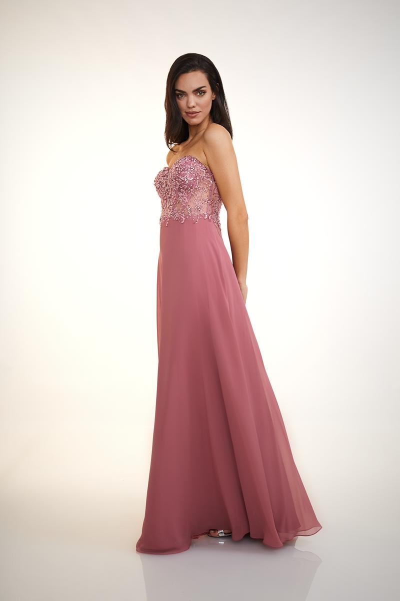 ROSE FLOWER CORSAGE DRESS