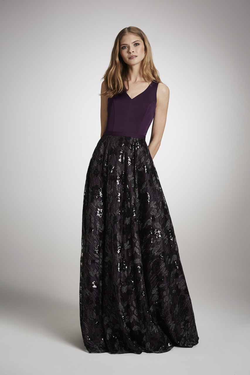 GRAPE GLANCE GOWN