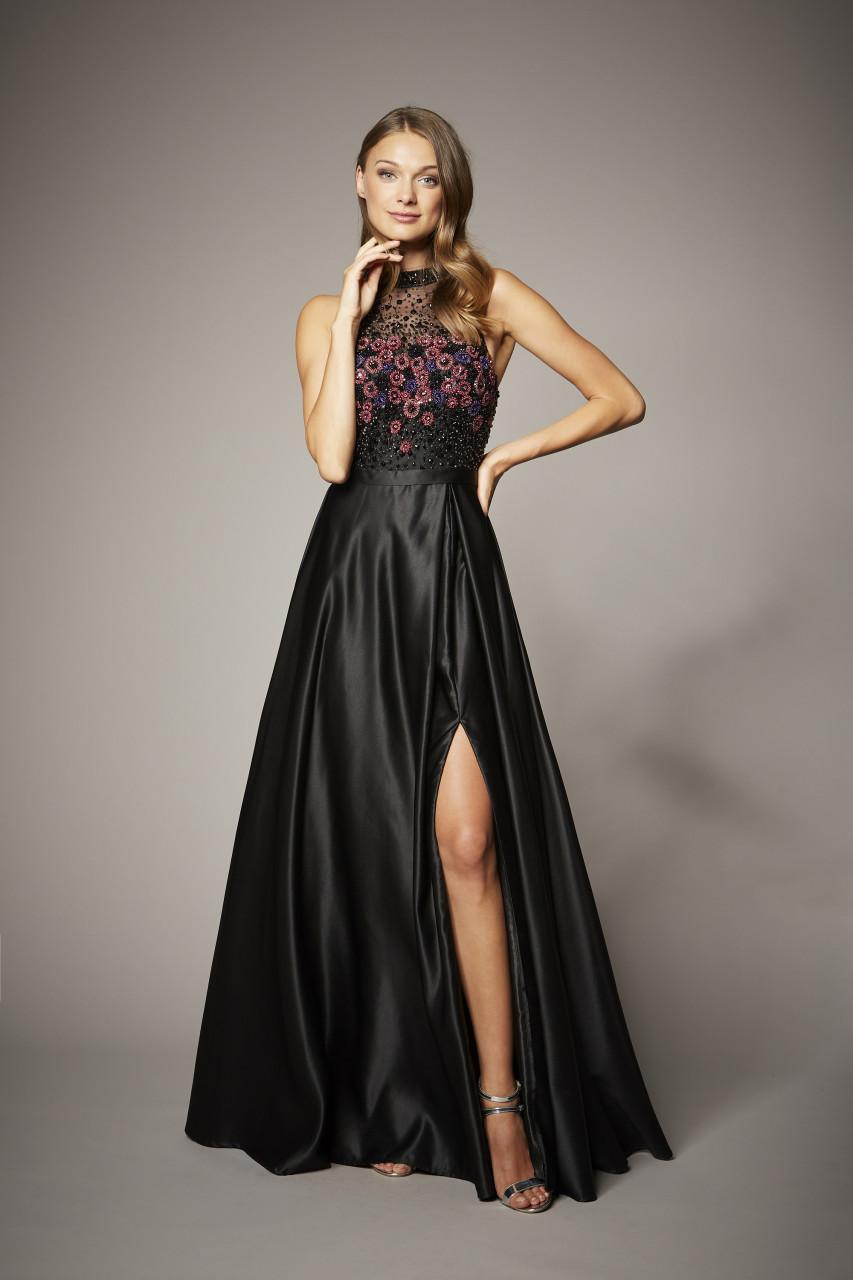 STUNNING BLACK FLORAL DRESS
