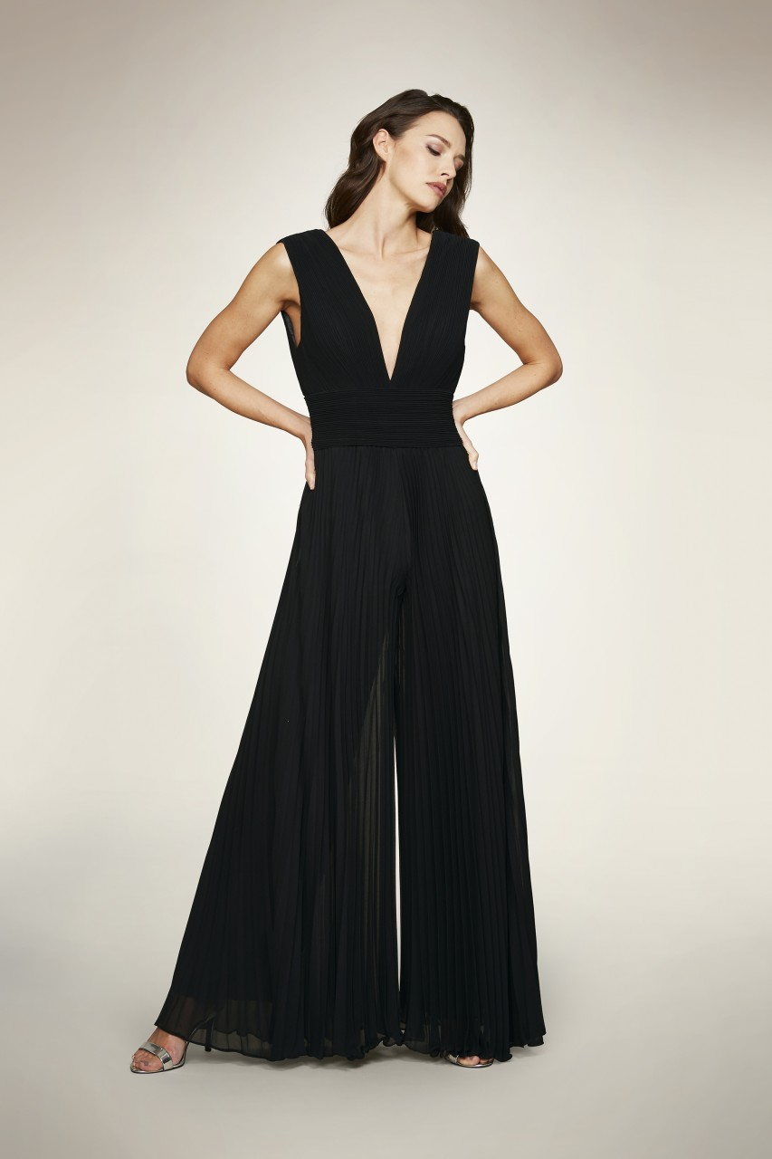 FIT AND FLARE JUMPSUIT